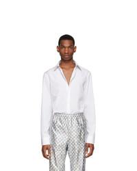 Мужская белая рубашка с длинным рукавом от Gucci