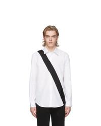Мужская белая рубашка с длинным рукавом от Helmut Lang