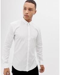 Мужская белая рубашка с длинным рукавом от Hugo