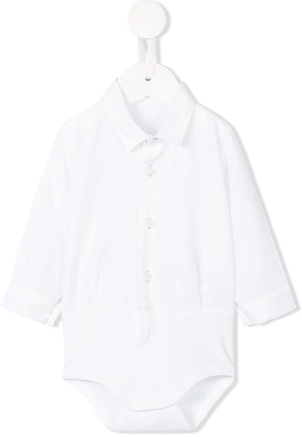 Детская белая рубашка с длинным рукавом для мальчику от Il Gufo