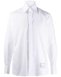 Мужская белая рубашка с длинным рукавом от Karl Lagerfeld