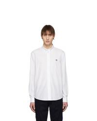Мужская белая рубашка с длинным рукавом от Kenzo