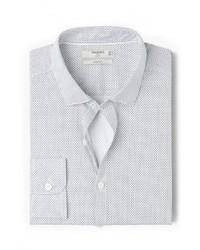 Мужская белая рубашка с длинным рукавом от Mango Man