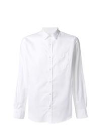 Мужская белая рубашка с длинным рукавом от Officine Generale