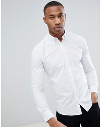 Мужская белая рубашка с длинным рукавом от ONLY & SONS