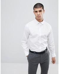 Мужская белая рубашка с длинным рукавом от Process Black