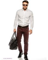 Мужская белая рубашка с длинным рукавом от Tom Farr