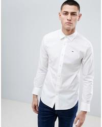 Мужская белая рубашка с длинным рукавом от Tommy Jeans
