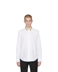 Мужская белая рубашка с длинным рукавом от Versace
