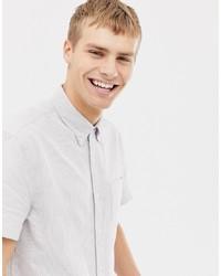 Мужская белая рубашка с коротким рукавом в вертикальную полоску от J.Crew Mercantile