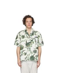 Мужская белая рубашка с коротким рукавом с цветочным принтом от Jacquemus