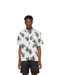 Мужская белая рубашка с коротким рукавом с цветочным принтом от Saturdays Nyc