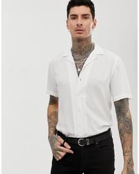 Мужская белая рубашка с коротким рукавом от ASOS DESIGN
