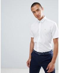 Мужская белая рубашка с коротким рукавом от Farah Smart