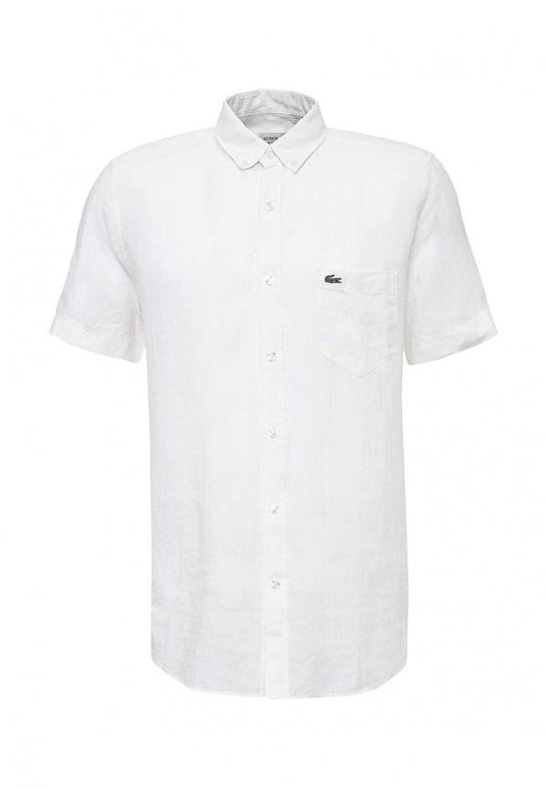 329fb5672aca Мужская белая рубашка с коротким рукавом от Lacoste   Где купить и с ...