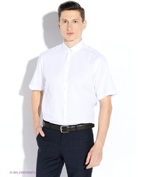 Мужская белая рубашка с коротким рукавом от Maestro