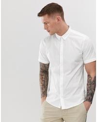 Мужская белая рубашка с коротким рукавом от ONLY & SONS