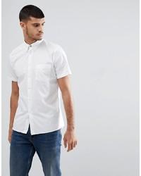 Мужская белая рубашка с коротким рукавом от PS Paul Smith