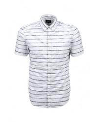 Мужская белая рубашка с коротким рукавом от s.Oliver Denim