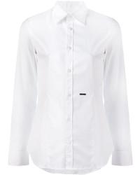 Женская белая рубашка от Dsquared2