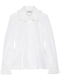 Женская белая рубашка от Fendi
