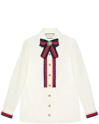 Женская белая рубашка от Gucci