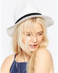 Женская белая соломенная шляпа от Asos