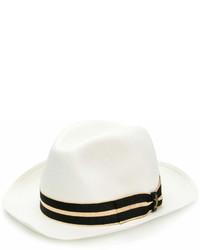 Мужская белая соломенная шляпа от Borsalino