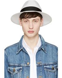 Мужская белая соломенная шляпа от Junya Watanabe