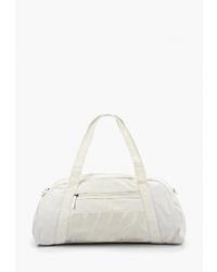 Женская белая спортивная сумка из плотной ткани от Nike