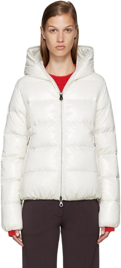 4ce36a1519bf Женская белая стеганая куртка от Duvetica   Где купить и с чем носить