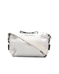 Белая сумка почтальона из плотной ткани