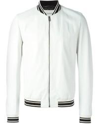 Белая университетская куртка