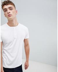 Мужская белая футболка на пуговицах от French Connection