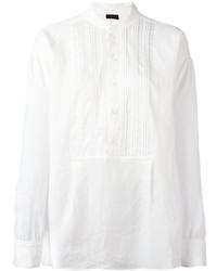 Женская белая футболка на пуговицах от Joseph