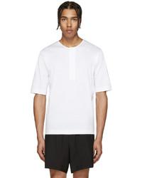 Мужская белая футболка на пуговицах от Lemaire