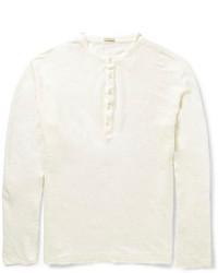 Мужская белая футболка на пуговицах от Massimo Alba