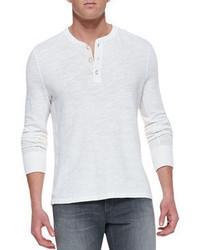 Мужская белая футболка на пуговицах от rag & bone