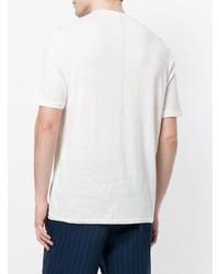 Мужская белая футболка на пуговицах от Roberto Collina