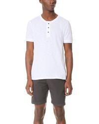 Мужская белая футболка на пуговицах от Vince