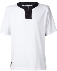 Мужская белая футболка на пуговицах от Y-3