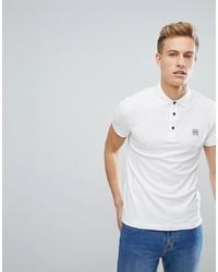Мужская белая футболка-поло от BOSS