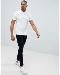 Мужская белая футболка-поло от Jack & Jones