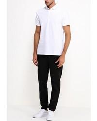 Мужская белая футболка-поло от River Island
