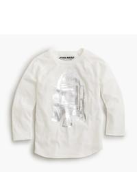 Белая футболка со звездами