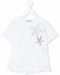 Детская белая футболка со звездами для девочек
