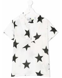 Детская белая футболка со звездами для девочке от Nununu
