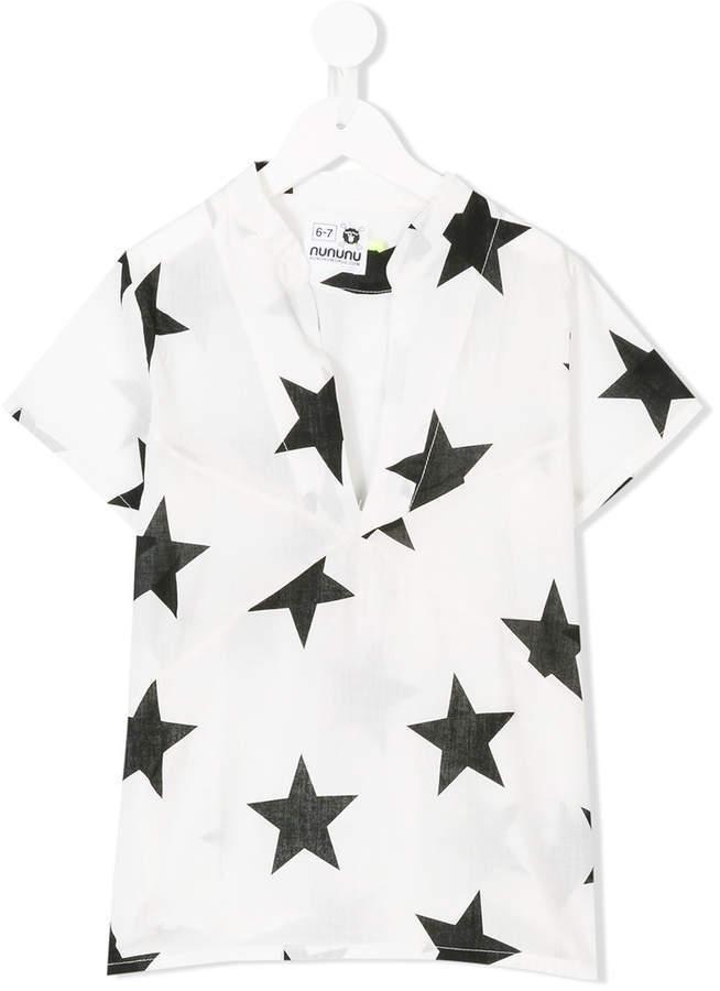 Детская белая футболка со звездами для девочек от Nununu