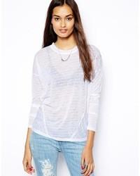 Женская белая футболка с длинным рукавом в горизонтальную полоску от Glamorous