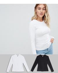 Женская белая футболка с длинным рукавом от Asos Petite